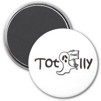 Totalmente imanes de Todd, logotipo Imán Redondo 7 Cm