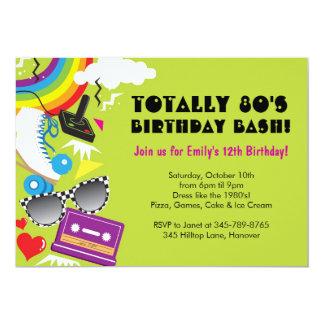 Totalmente invitaciones de la fiesta de cumpleaños invitación 12,7 x 17,8 cm