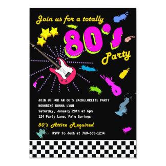 """Totalmente invitaciones del fiesta de los años 80 invitación 5"""" x 7"""""""