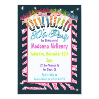 Totalmente invitaciones del fiesta de los años 80 invitación 12,7 x 17,8 cm
