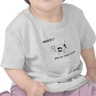 ¡Totalmente lindo Camisa del MOO de los bebés