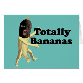 Totalmente plátanos tarjeta de felicitación
