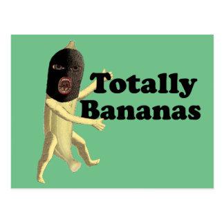 Totalmente plátanos tarjetas postales