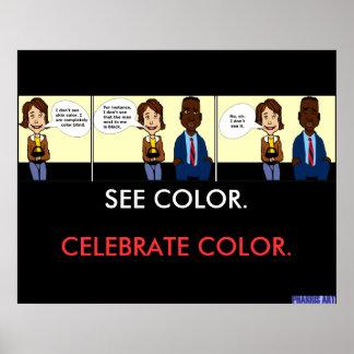 Totalmente poster del daltónico