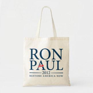 Tote 2012 de Ron Paul Bolsa Tela Barata