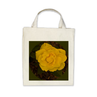 Tote -- A Yellow RoseOrganic Grocery Tote Bag