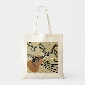 Tote abstracto de la guitarra bolsa