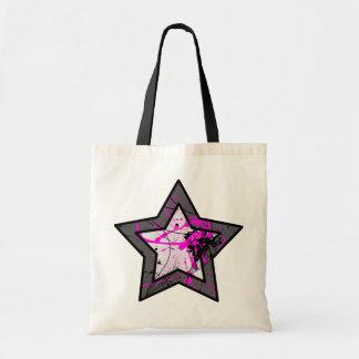 Tote abstracto rosado de la estrella bolsa