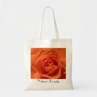 Tote adaptable color de rosa anaranjado bolsa tela barata
