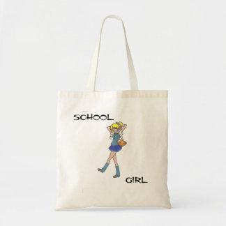 Tote adolescente del presupuesto de la colegiala bolsas