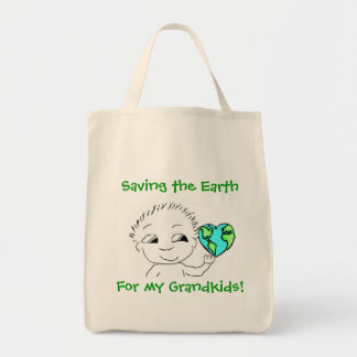 Tote - ahorro de la tierra bolsa tela para la compra