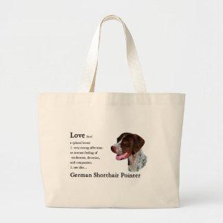 Tote alemán de los regalos del indicador de pelo bolsa tela grande
