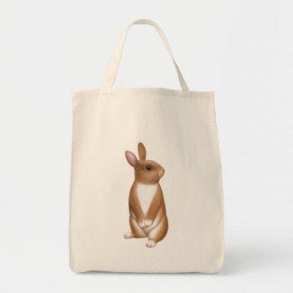 Tote alerta del ultramarinos del conejito bolsas lienzo