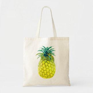 Tote amarillo con sabor a fruta de la piña bolsa tela barata