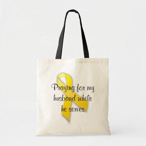 Tote amarillo de la cinta bolsas