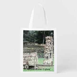 Tote antiguo de las ruinas mayas de Copan Honduras Bolsas Para La Compra
