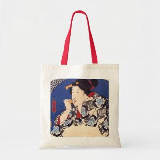 Tote antiguo del diseño del japonés bolsa tela barata
