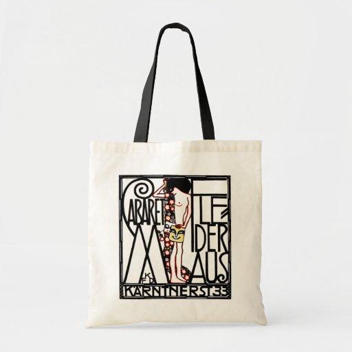 Tote -  Art Nouveau - Cabaret  Fledermaus Tote Bags