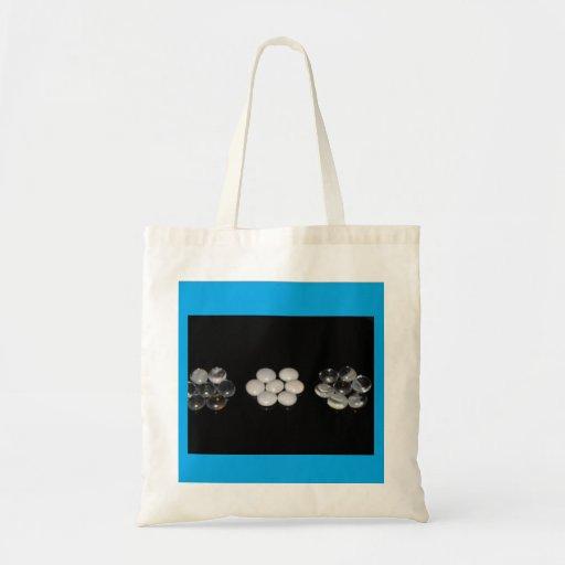 Tote azul moldeado bolsa