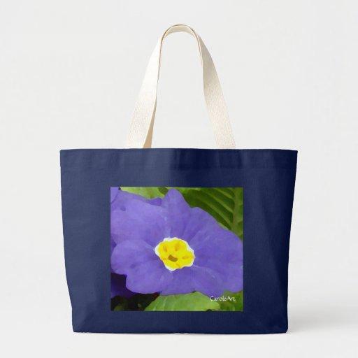 """Tote """"azul"""" pintado primavera bolsa tela grande"""
