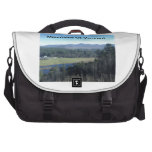 Tote Bad with photo of scenic vermont view Laptop Bags