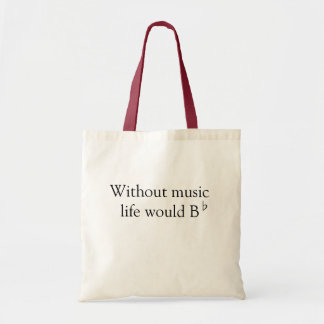 Tote Bad - Without Music Canvas Bag