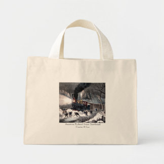 Tote Bag - American Railroad Scene: Snowbound