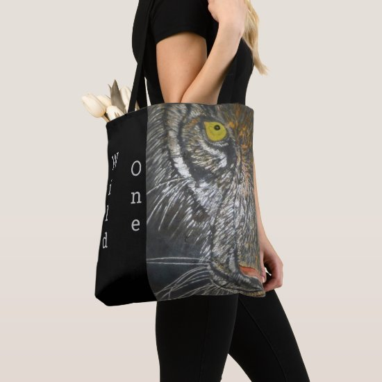 Tote Bag (ao) - Big Cat Portrait