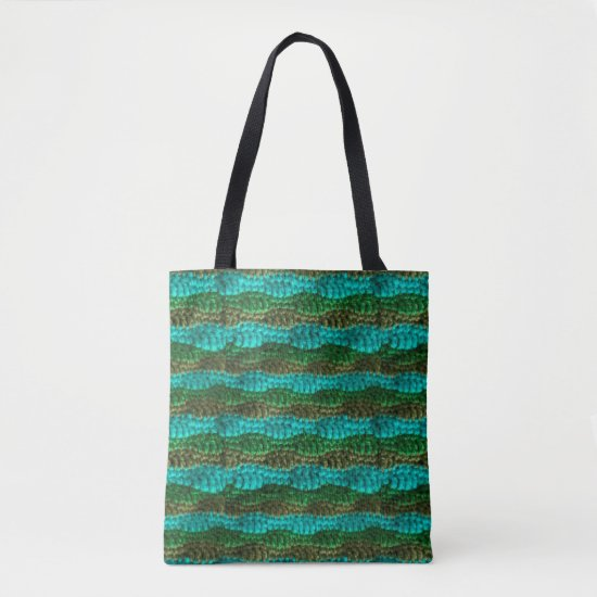 Tote Bag (ao) - Rows of Green Ripples