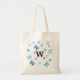 Tote Bag - Blue Letters