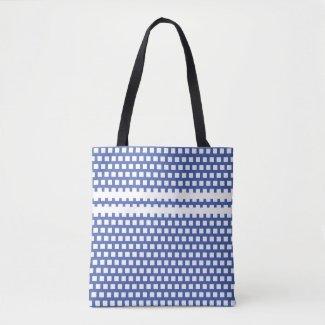 Tote bag blue quadratum