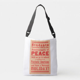 Tote bag, broadside Armistice Day, circa 1919