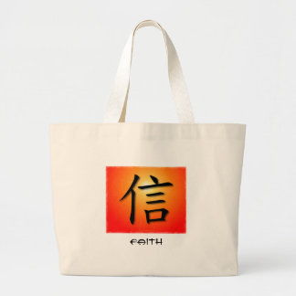 Tote Bag Chinese Faith Symbol On Sunset Cross NAT