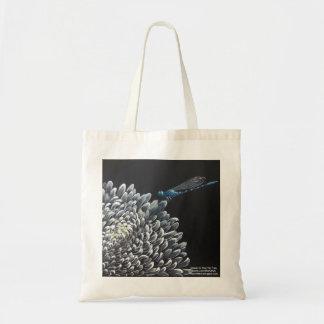 Tote bag - Chrysanthemum and damselfly