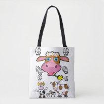 tote bag cow farm