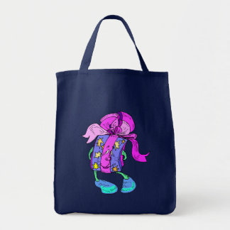 Tote Bag Cute Anthropomorphic Gift Giving presents