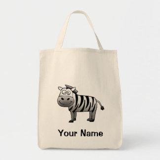 Tote Bag, Cute Zebra Cartoon, Your Name!