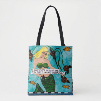 Tote bag- don't bother me.