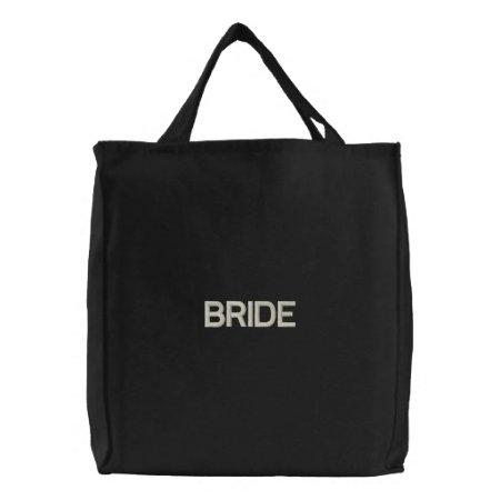 Tote Bag Embroidered --bride