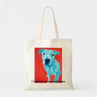 Tote bag featuring pet art by Gail McFarland