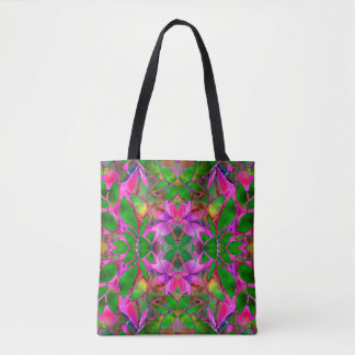 Tote Bag Floral Fractal Art