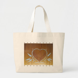 Tote Bag FolkArt Heart Collection Carry ALL