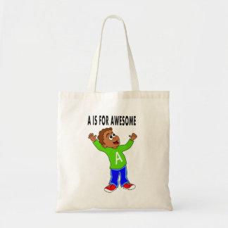 tote bag for kids cute boy cartoon happy boy
