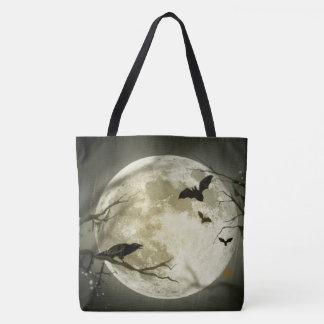 tote bag  Halloween moon bat autumn stars