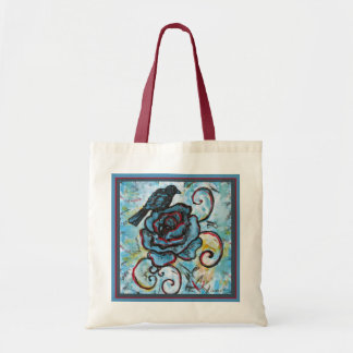 Tote Bag hand-drawn Crow
