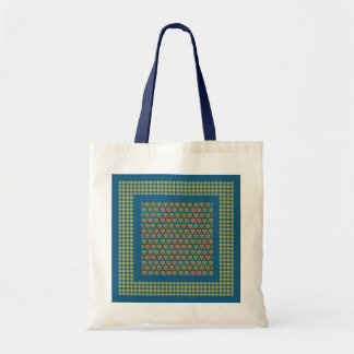 Tote Bag, Hearts and Check Gingham Pattern Budget Tote Bag