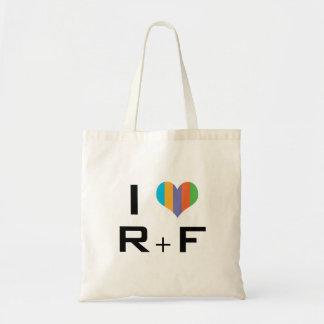 tote bag I love R + F