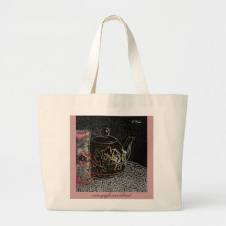 Tote Bag Large - Books and Tea