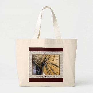Tote Bag, Large - Tall Grasses and White Heather
