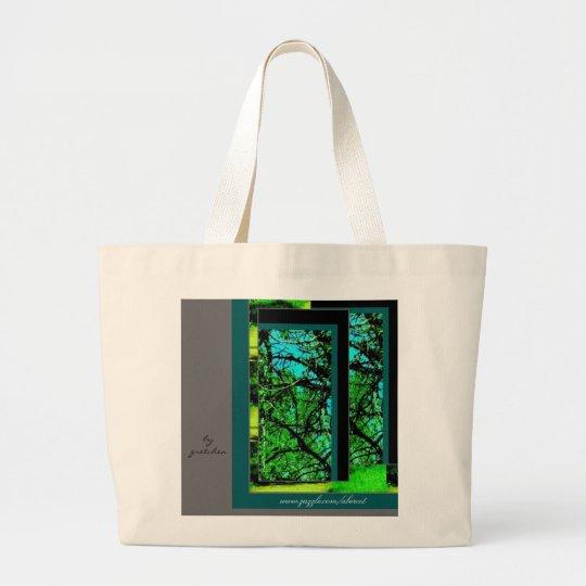 Tote Bag, Large - Walk in Green